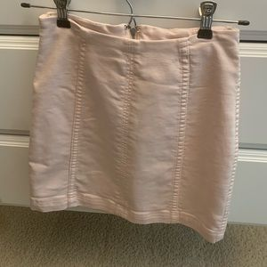 free people modern femme denim skirt light pink